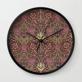 William Morris,Art Nouveau,Vintage pattern, floral victorian pattern, Wall Clock