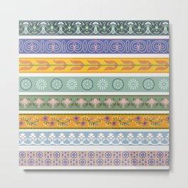 Vintage Ornament Pattern Metal Print