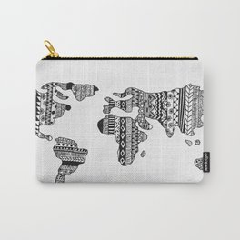 Tribal map, tribal print map Carry-All Pouch