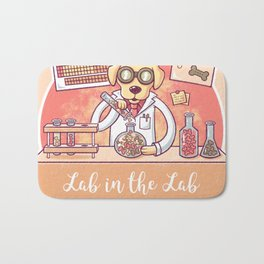 Lab in the Lab Bath Mat