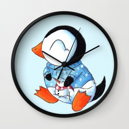 Sweater Penguin Wall Clock
