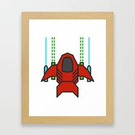 8bit Spaceship Game Shooter Framed Art Print