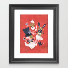 Mad Hatter's Tea Party - Alice in Wonderland Framed Art Print