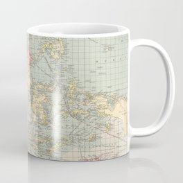 Vintage Map of Indonesia and The Philippine Ports (1905) Coffee Mug