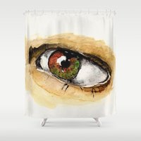 study Shower Curtains featuring Study by Kendall Brier