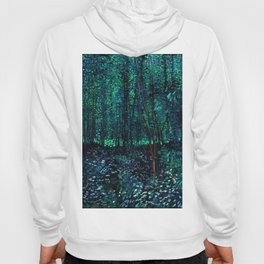 Vincent Van Gogh Trees & Underwood Teal Green Hoody