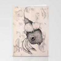 edgar allan poe Stationery Cards featuring Edgar Allan Poe by Andreas Derebucha