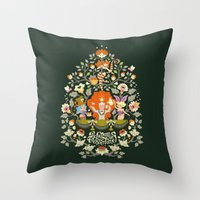 alice wonderland Throw Pillows featuring Wonderland by rosekipik
