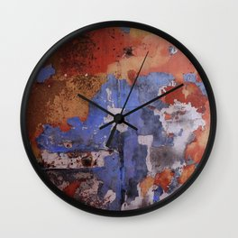 Abstract wall patchwork painting Wall Clock