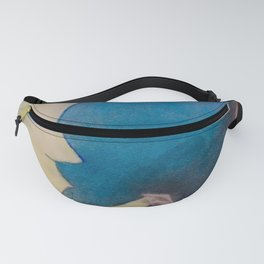 Watercolor Portrait of Boy on a Crescent Moon Fanny Pack