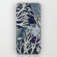 under the sea iPhone & iPod Skins featuring Under the Sea - Abstract by Paula Belle Flores