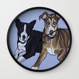 Rocco & Lola Wall Clock
