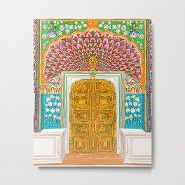 Jaipur Palace Front Entrance Door Metal Print