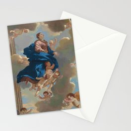 Poussin -the assumption of the virgin Stationery Cards