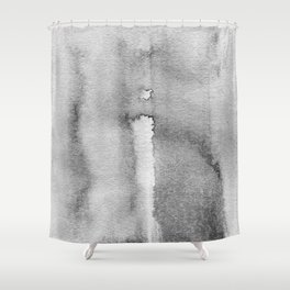 Black and white watercolor composition - the metaphysical man and the universe Shower Curtain