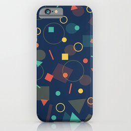 Triangles,Circles,Squire, iPhone Case