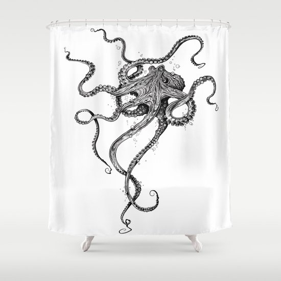 octopus shower curtaintaojb | society6