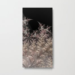 Frozen white Metal Print