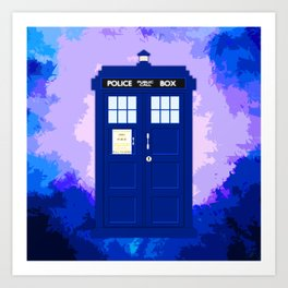 Tardis The Blue Phone Both Art Print