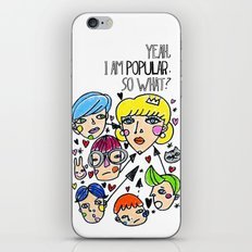 Pop girl iPhone & iPod Skin