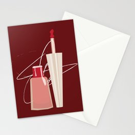 When Red Meets RED Stationery Cards
