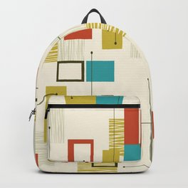 Mid Century Modern, Sputnik Pattern Backpack