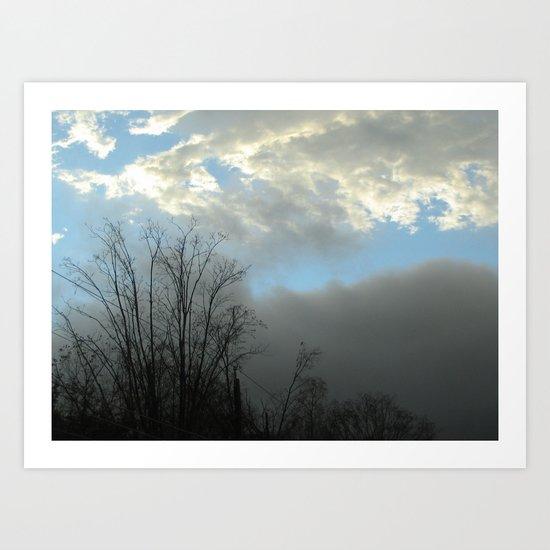 TreeStormCloud Art Print