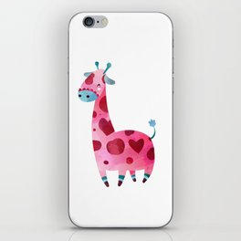 Giraffe and Hearts iPhone Skin