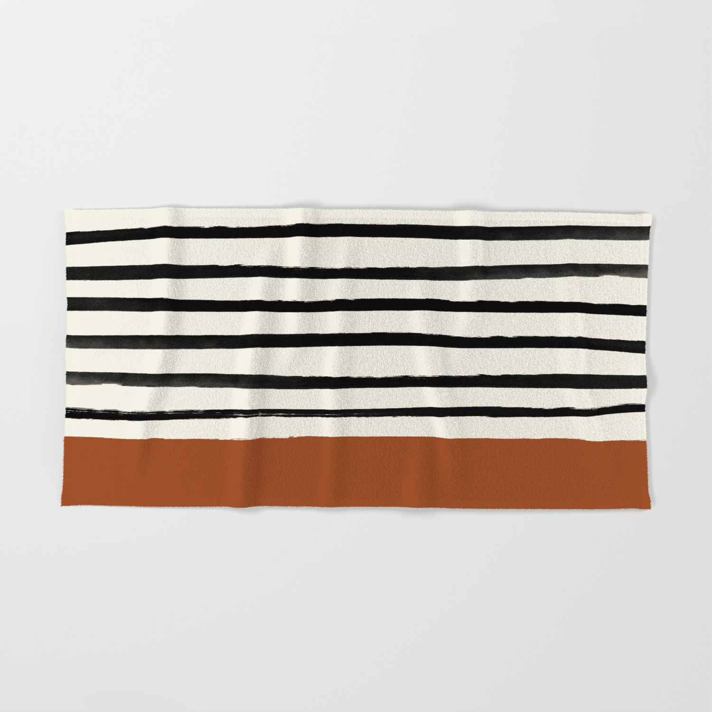 Burnt Orange X Stripes Hand Bath