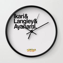Evangelion: Eva Pilots Names Wall Clock