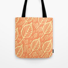 Orange Autumn Leaf Design  Tote Bag