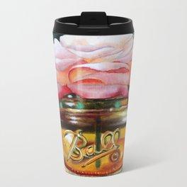 Rose in Amber Mason Ball Glass Metal Travel Mug