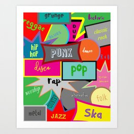 What Are You Listening To? Art Print