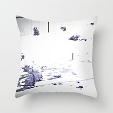 Overrun by Snow Throw Pillow