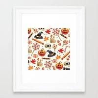 halloween Framed Art Prints featuring halloween by Ceren Aksu Dikenci