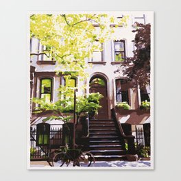 Perry Street is Fine By Me - West Village Watercolor Canvas Print