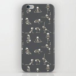 Skeleton Yoga_Gray iPhone Skin