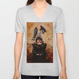 Crow Woman Unisex V-Neck