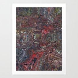 Mining For Ore Art Print