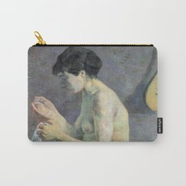 """Paul Gauguin - Study of a nude """"suzanne sewing"""" (1880) Carry-All Pouch"""