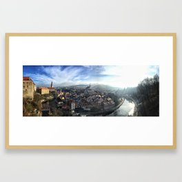 Winter Scene of Cesky Krumlov, Czech Republic Framed Art Print