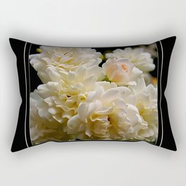 white roses and a light pink bud (square) Rectangular Pillow