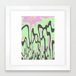 melting in the space Framed Art Print