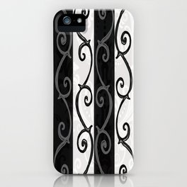 Burtonesque Stripes and Swirls.. iPhone Case