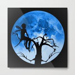 Moonlight Wondering Fairy Metal Print