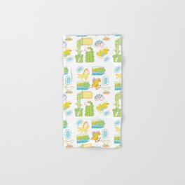 Unicorn Pattern Hand & Bath Towel