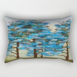Pine Tree Digital art  composition Rectangular Pillow