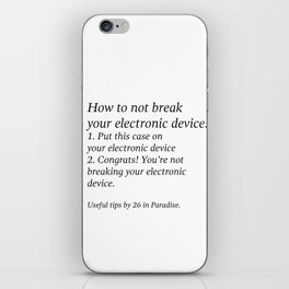 Useful Tips #1 iPhone Skin
