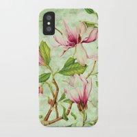 magnolia iPhone & iPod Cases featuring Magnolia by CatDesignz