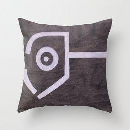 signo 8 blanco Throw Pillow
